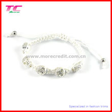 2013 Hotspot Fashion Shamballa Bracelet avec strass Metal Skull