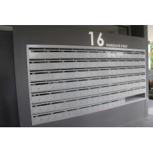 Caixa de correio externa com montagem em parede