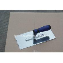 High Carbon Steel Steel Teeth Trowel with Plastic Handle (BR2337)