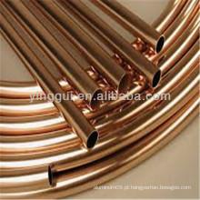 Tubos de cobre C10100 para aplicações industriais