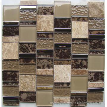 New Pattern Glass Mosaic Wall Tile, Crystal Glass Mosaic (HGM372)