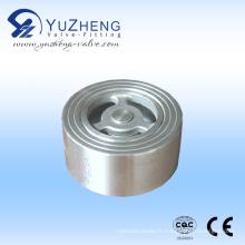 Valve de retenue de gaufrettes en acier inoxydable Pn16 H71