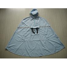 Yj-6017 Backpacking Nylon Polyester Wasserdichte Herren Kapuzen Regen Poncho für Erwachsene
