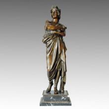 Klassische Figur Statue Philosophen Bronze Skulptur, Milo TPE-001