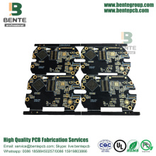 Tinta preta 6 camadas IT180 High TG PCB ENIG Thick Gold BGA