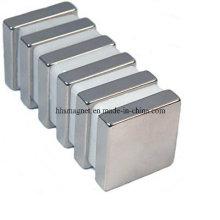 Bloque magnético industrial NdFeB permanente con recubrimiento de níquel