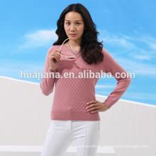 Camisola feminina 100% cachemira feminina 12GG