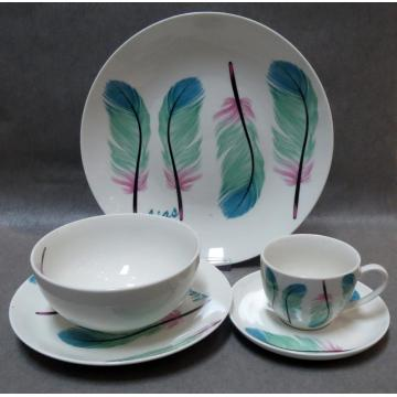 Feathers Ceramic Dinner Sets