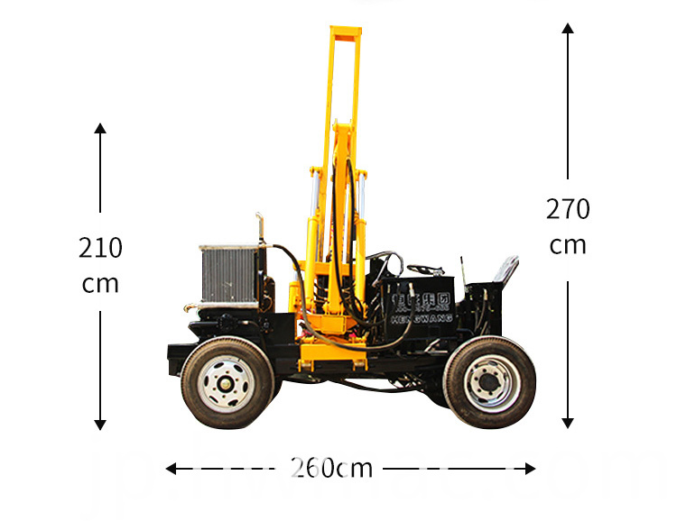Small four wheel guardrail pile driver_05