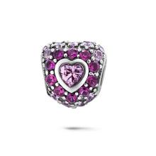 Hear CZ encantos 925 joyas de plata de ley