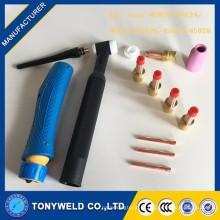 Kit de lente de gás tocha de soldagem tig para wp17 / wp18 / wp26