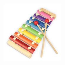 Brinquedo educativo com xilofone de criança de chaves de metal