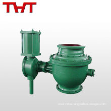 Top supplier DN200~400 eccentric semi- ball valve for dust gas equipment