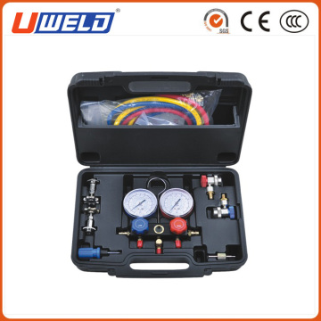 HVAC A / C Refrigeration Charging Service Maniold Gauge Kit
