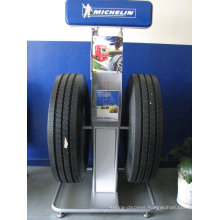 Novel Advertising Movable Custom Metal Display Stand, Commercial Tyre Display Stand For Car Tires