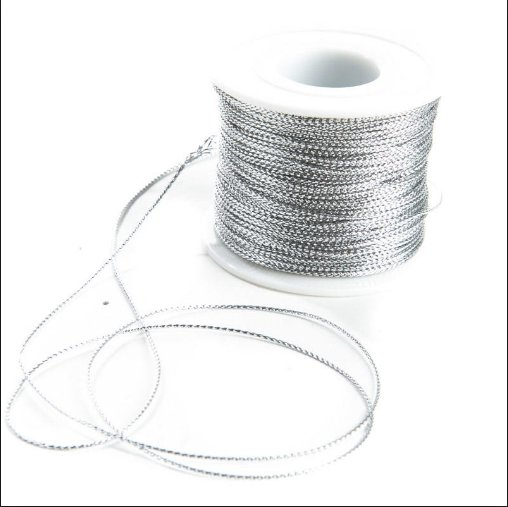 Product available silver elastic cord