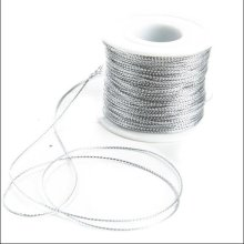 Factory price supply silver metallic elastic cord