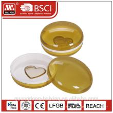 Porte-savon en plastique de forme ronde, boîte à savon & porte-savon