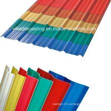 Material de construcción de plástico de 3 capas a prueba de UV para techo