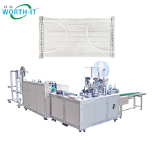Fast delivery flat surgical face mask making machine high speed 1+1disposable mask production machine