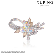 00093 Xuping new model magnetic bridal hair brooch for wedding invitations wholesale bulk brooch crystals from Swarovski