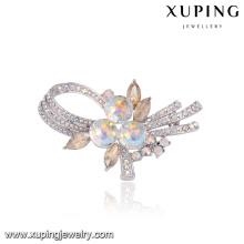 00093 Xuping novo modelo magnético broche de cabelo de noiva para convites de casamento por atacado em massa broche de cristais de Swarovski