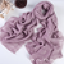 Infinity size cotton linen scarf with lurex