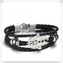Joyería de moda de cuero pulsera de cuero joyería (lb562)