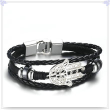 Fashion Jewelry Leather Bracelet Leather Jewelry (LB562)