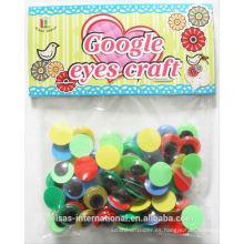 Ojos saltones ondulantes para los ojos de animales de plástico juguetes