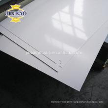 JINBAO smooth cheaper pvc sheet hard white price