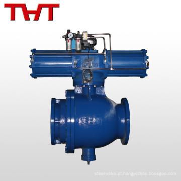 Tubo de alta pressão descarregando a válvula pneumática de esfera flangeada pneumática de cinzas