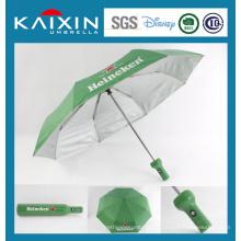 Parapluie pliable publicitaire en pochette en bouteille