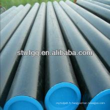 API 5L GrB / ASTM A106 GrB / ASTM A53 GrB tuyau en acier au carbone sans soudure