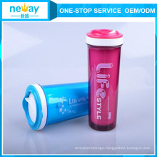 Double-Deck Heat Protection 300ml Plastic Cup