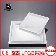 Fabricante porcelana / cerâmica banquete placa de jantar placa quadrada