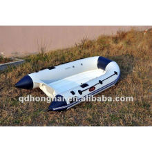 barco inflável de pesca pequena embarcação rígida de fibra de vidro rib250