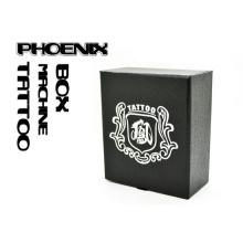 Boîte de haute qualité en cuir Style Tattoo Machine avec Logo de Phoenix