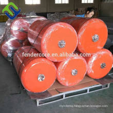 China mooring buoy foam fenders with chain and net made in Qingdao