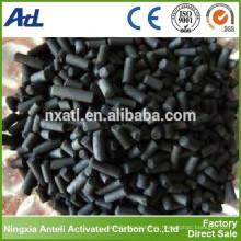 forma cilíndrica carbón activado a vapor 4mm con CTC 75% para purificación de aire
