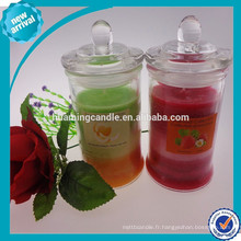 Bougie parfumée en pot de verre / 2014 produits de vente chaude