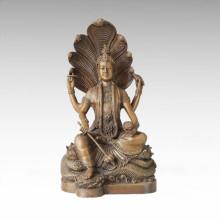 Buddha-Statue Schlange Bodhisattva Bronze Skulptur Tpfx-B101