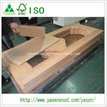 Capa de porta de madeira maciça de carvalho de boa qualidade