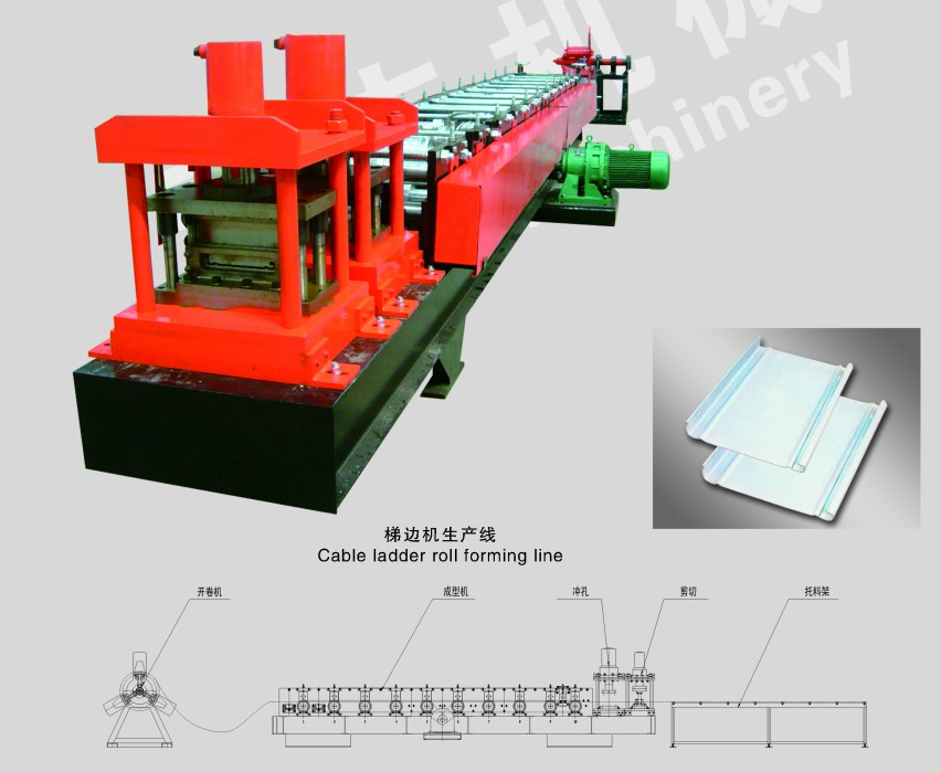Ladder Steel Cold Roll Forming Machine