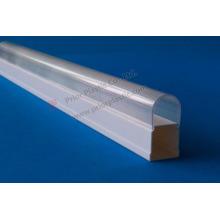 Cubierta de plástico transparente de la PC para tubo de LED