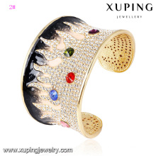 Bangle -63 Fashion Elegant Rhinestone Jewelry Ring Bangle in 24k Gold Color