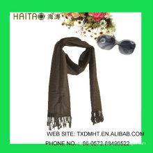 HT311-Bufanda marrón para hijab ladise