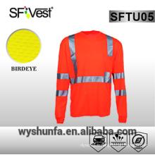 T-shirt de sécurité manches longues chemise à haute visibilité vêtements de sécurité réfléchissante