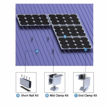 Solar Power Plant Solar Trapezoidal Metal Sheet Roof Mounting System