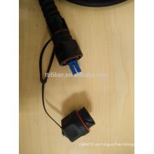 ODVA -LC Duplex IP67 Cable de conexión de fibra óptica